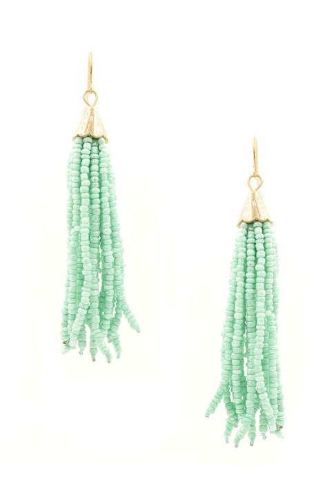 seed bead tassel earrings seed bead tassel drop earrings