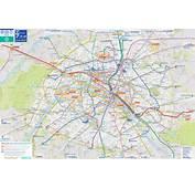 Map Paris Tourist City Metro