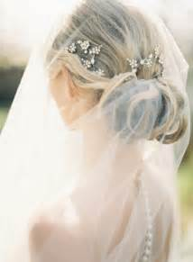 Wedding hairstyles with drop veil once wed