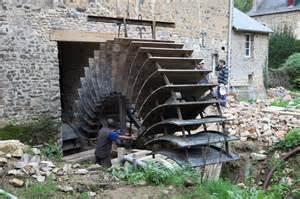 le installieren installation de la roue du grand moulin