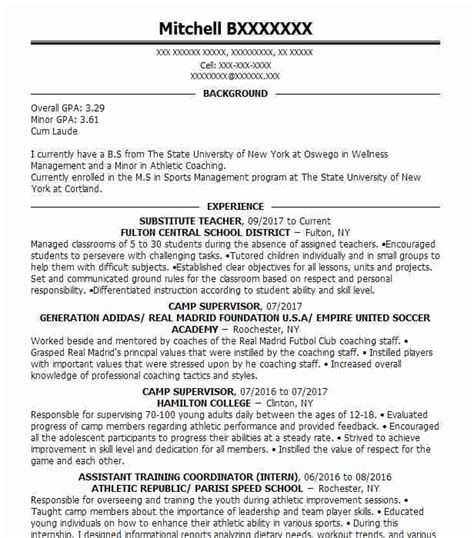 Sports Resume by Resume For Sports Resume Ideas