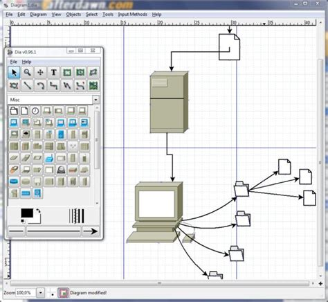dia flowchart software dia v0 97 2 open source afterdawn software
