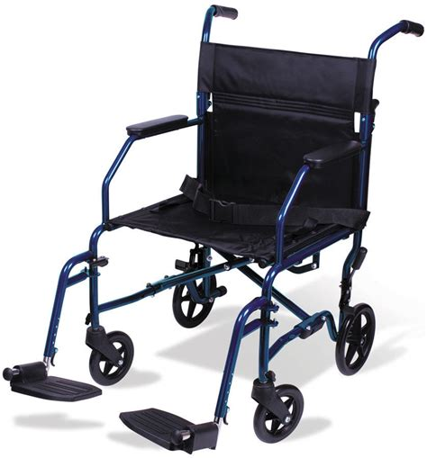 Carex Transport Chair by 19 Quot Transport Wheelchair Folding Lightweight A33677