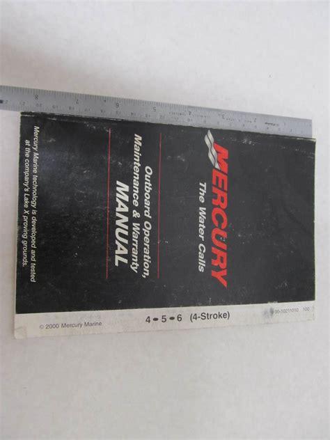 2000 Mercury Outboard Operation Amp Maintenance Manual 4 6