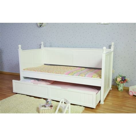 White Trundle Bed Frame Princess Single Bed Frame W Trundle In White Buy Trundle Beds