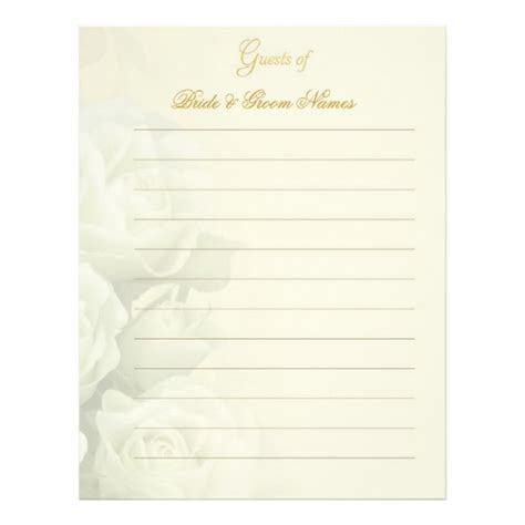 free printable guest book template best photos of guest book blank template wedding guest