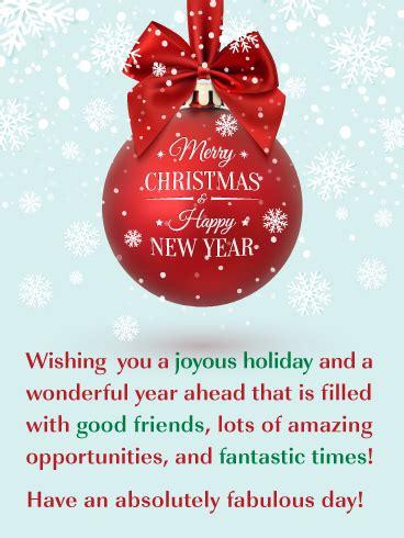 joyous holiday   great merry