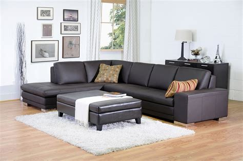 baxton studio callidora brown leather sectional sofa with left facing chaise callidora brown leather sectional sofa with left facing