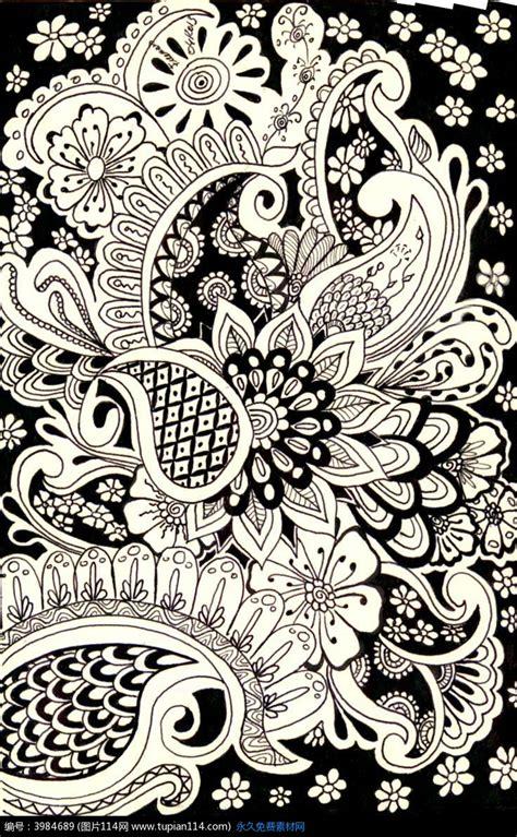 black and white henna wallpaper 黑白花纹装饰画高清图片 其他 图片114