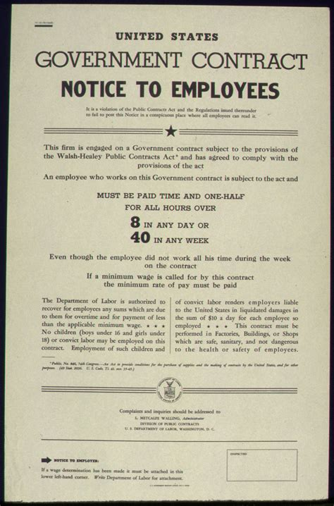 section 34 notice file united states government contract notice to employees