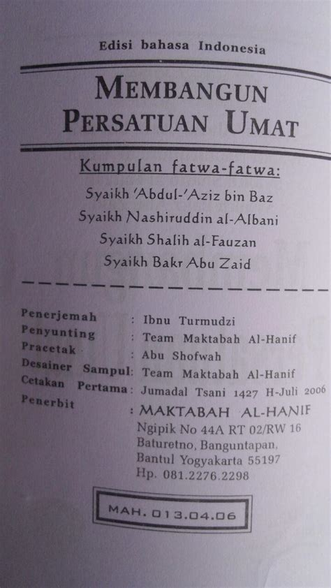 Ensiklopedi Muslim Minhajul Muslim Abu Bakr Al Jazairi buku kumpulan fatwa fatwa membangun persatuan