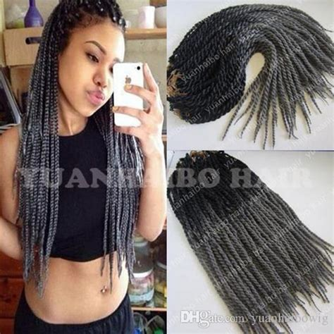 where to buy grey kinky twist hair 2018 high quality ombre black gray kinky twist crochet
