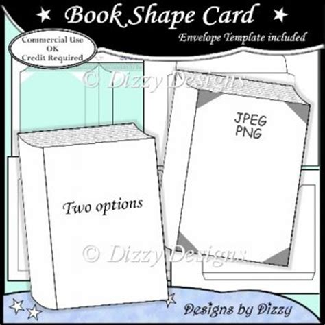book shape card template 163 3 00 instant card making