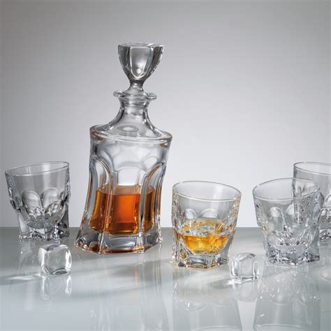 Buy & Send Bohemia Acapulco Crystal Decanter Set with 6