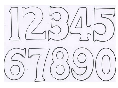 printable numbers template number templates beepmunk