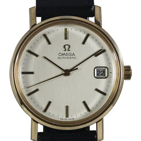 pre owned omega mens 9ct gold automatic pre owned
