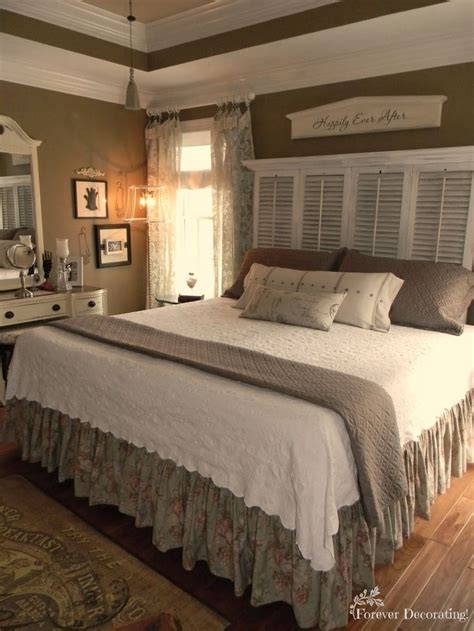No Cost Decorating Master Bedroom Love The Shutter No Headboard Decorating Ideas