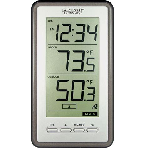la crosse technology wireless thermometer with time ws