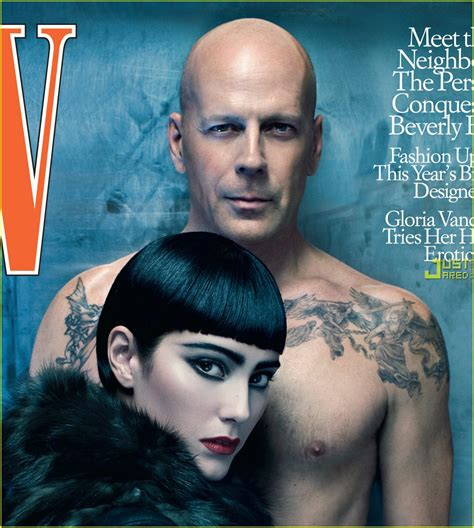 bruce willis tattoos sized photo of bruce willis w magazine july 2009