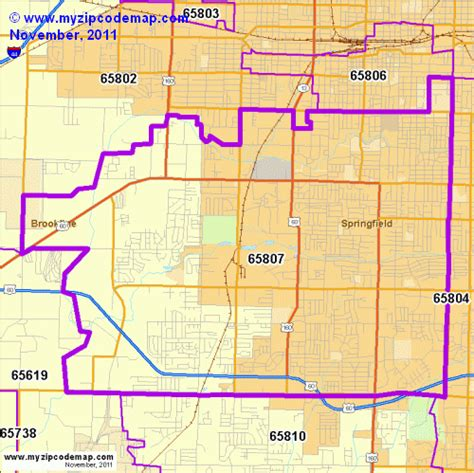 zip code map springfield mo zip code map of 65807 demographic profile residential