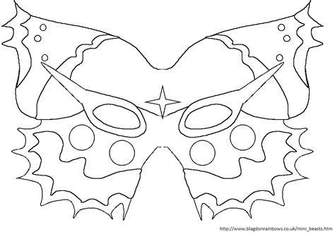 butterfly mask template teach march 2013