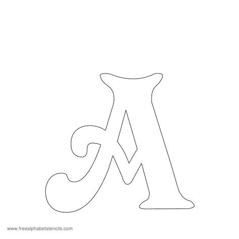 Free Printable Stencils For Alphabet Letters Numbers Wall Stencils Pinterest Free Letter Templates Free Printable