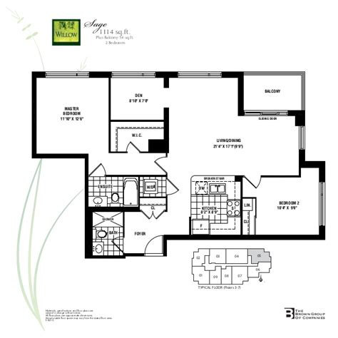 emerald park floor plan willow park condo at bayview willow park condos 17