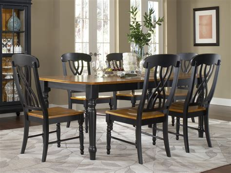black dining room set marvelous black dining sets 7 farm style dining room sets