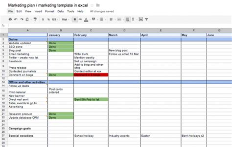 free marketing plan template simple social media scheduling template new calendar