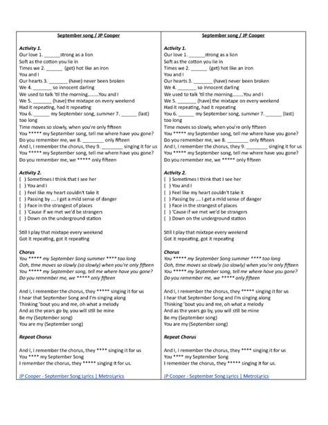 printable disney song lyrics quiz 1 788 free esl songs for teaching english worksheets