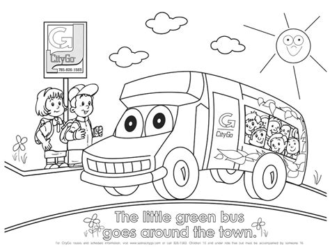 bus coloring pages preschool free transport for children coloring pages