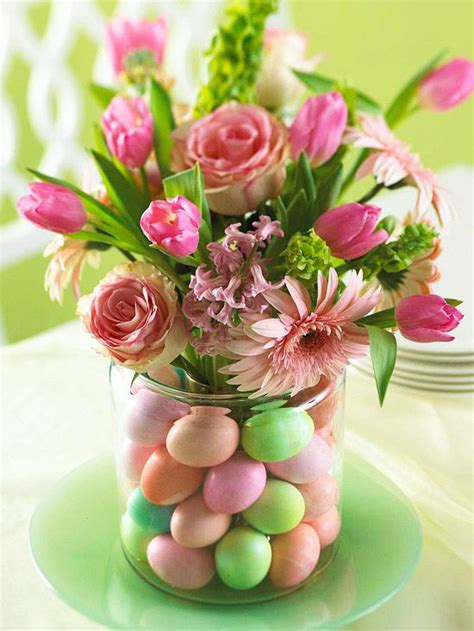 simple spring centerpieces pastel flowers flower bouquets and easter