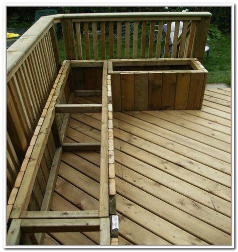 deck storage bench plans google search deck storage