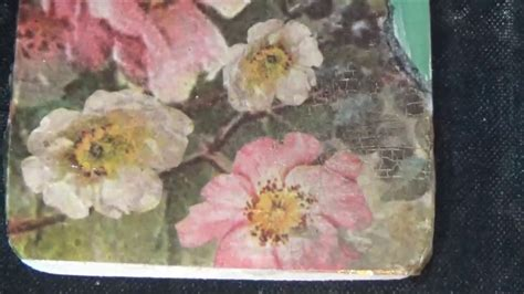 decoupage crackle tutorial studio decoupage tutorial two step crackle rice paper my