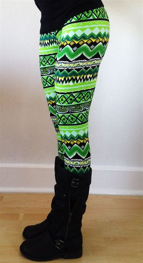 green patterned leggings loooove these hey i found this really awesome etsy
