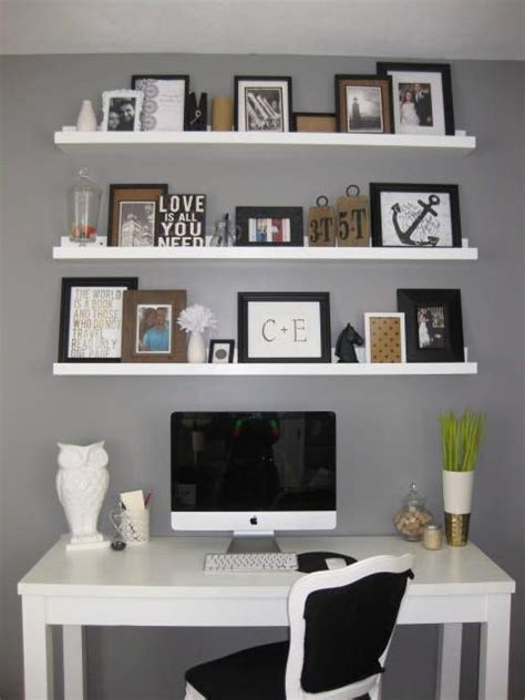 Shelves For Office Ideas 25 Best Ideas About Shelves Above Desk On Desk Space Imac Desk And Design