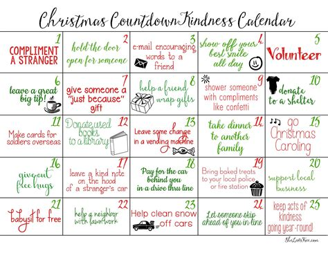 how do i make a countdown to calendar acts of kindness countdown calendars free