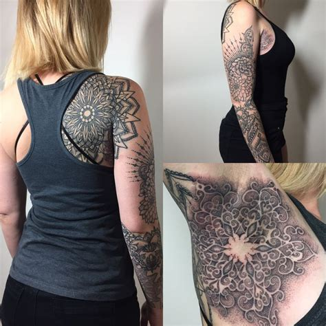geometric tattoo underarm tattoos by feliine los angeles ca sacred geometry