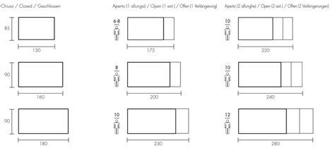 dimensioni tavolo 4 persone fgf mobili tavolo allungabile in legno massello block