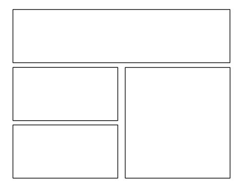 3rd grade first batch of comic templates