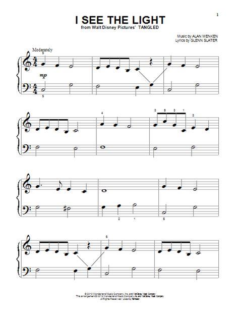 glenn slater i see the light piano big notes