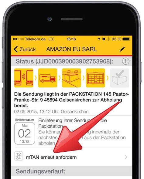 Paket Order By Request 7 packstation mtan neu anfordern mit smartphone app mobil ganz einfach de