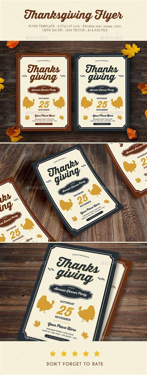 Thanksgiving Dinner Flyer By Vynetta Graphicriver Dinner Flyer Template