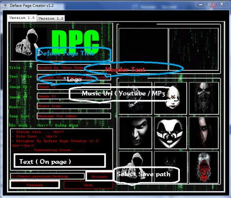 tutorial deface page creator how to create deface page for websites hacking paradise
