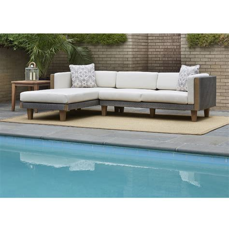 outdoor sofa with chaise lloyd flanders catalina outdoor wicker l sectional with