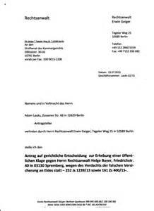 Brief Antrag Auf Schulbefreiung Antrag Auf Gerichtliche Entscheidung Zur Erhebung Einer 246 Ffentlichen Klage Gegen Ra Helge Bayer