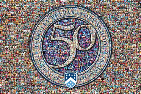 photo mosaic layout picture mosaics school 50th anniversary logo photo mosaic
