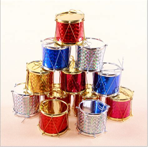 cheap small hang drum christmas tree decoration holiday