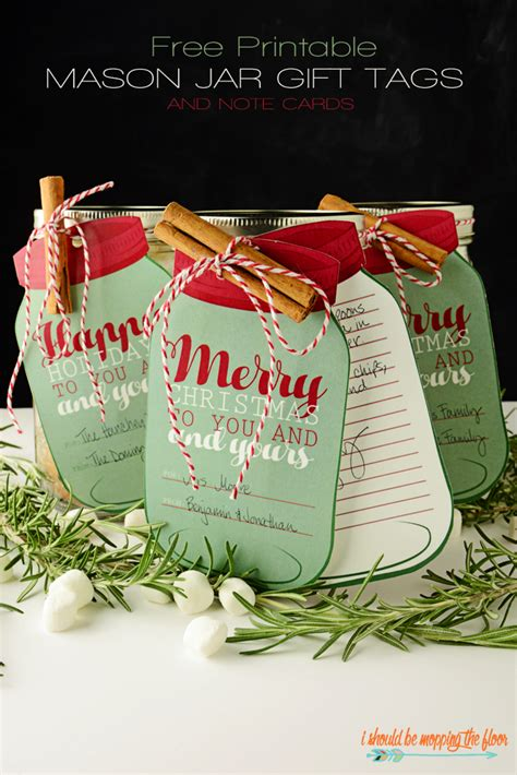 free printable recipe cards gifts jar printable holiday gift tags the idea room
