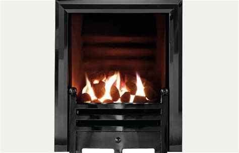 hotbox decorative open fronted gas fire diamond black trim